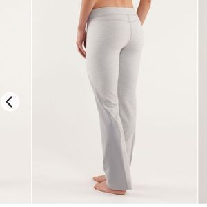 Lululemon Straight To The Studio Pants Silver 6